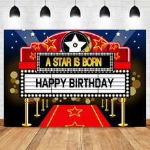 Neoback Happy Birthday Camera Photo Background A Star is Born Newborn Baby Photography Backdrop
