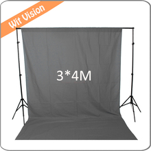 300*400 CM Cinza Fotografia Backdrop Fotográfica Muslin Background
