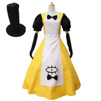 free shipping Gravity Falls Bill Cipher Cosplay Costume Mystery Attack Outfit Halloween Costumes with hat Women Version