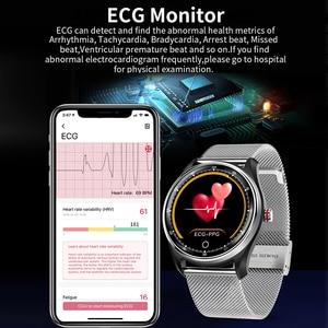Image 4 - LYKRY MX9 montre intelligente hommes femmes ECG fréquence cardiaque moniteur de pression artérielle PPG Bracelet intelligent navire par RU ES pour xiaomi huawei PK DT78