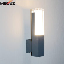 (WECUS) Modern Die-cast Aluminum LED Outdoor Wall Light Waterproof IP54 Lamp AC 85-265V porch outdoor lighting