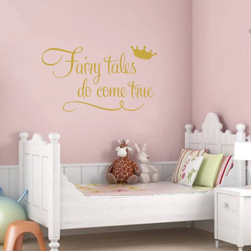 Citaten Uit Sprookjes : Prinses met kroon muur citaat decal stickers sprookjes doen