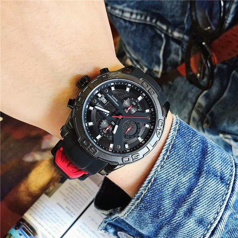MEGIR Hombres Relojes Reloj de pulsera de Cuarzo Analógico - Relojes para hombres - foto 2