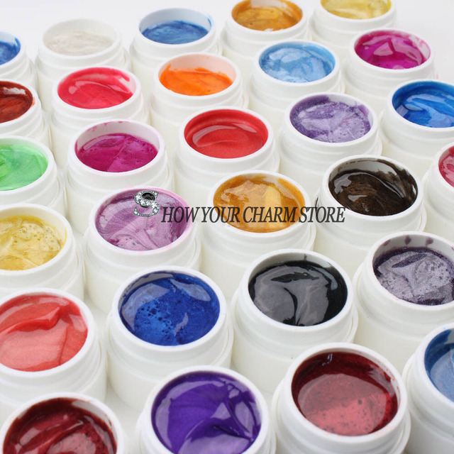 Nail Art Set for Nail Tips Professional 30PCS Mix Colors Pearls UV Builder Gel AcrylicNail UV gel set