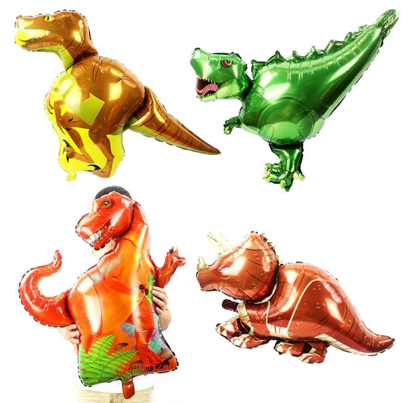 large Dinosaur Balloon birthday party decorations kids boy Favors helium balloons Kids Children's Toys baby shower air globos