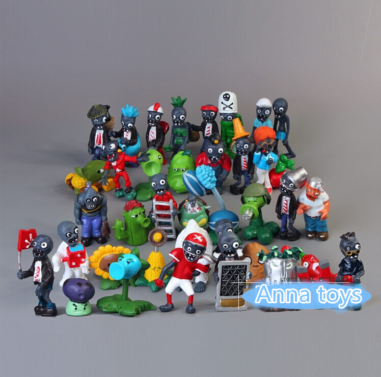 Collect 40pcs/lot Game Plants VS Zombies PVC Action Figures and Plant Collection Figures Garage Kits model Toy kids child Gift image