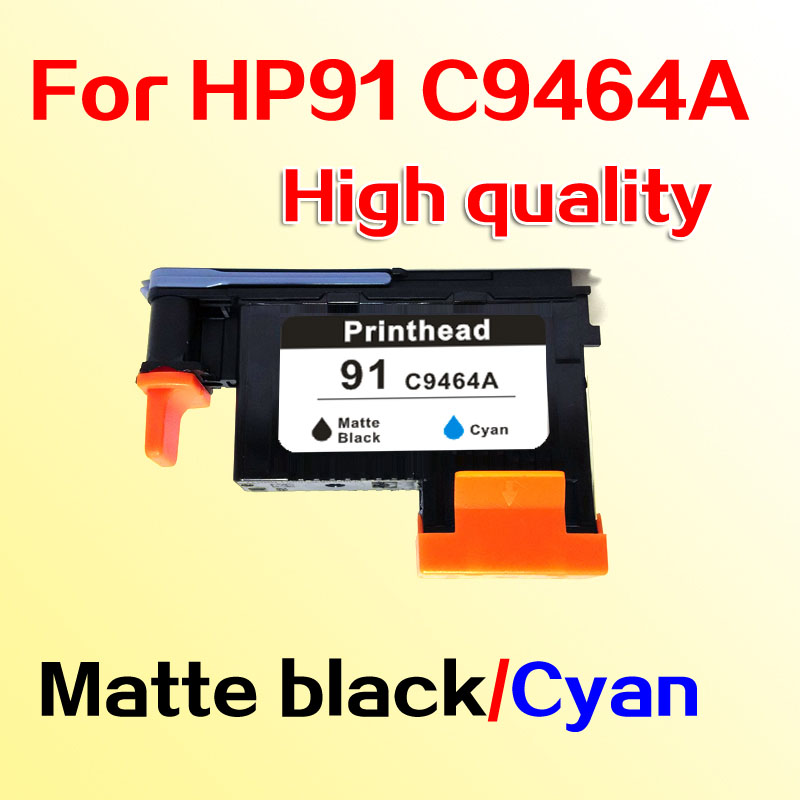 For hp91 printhead for HP 91 Designjet  Z6100 Z6100P Matte black/Cyan C9464A for hp 91 designjet printhead c9460a c9461a c9462a c9463a for hp designjet z6100 z6100ps printer 100% genuine brand new