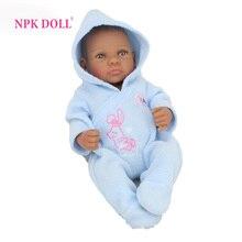 10 inch Black Reborn Boy African American Baby Doll Black Realistic Lifelike Reborn Babies Mini Doll Brinquedos