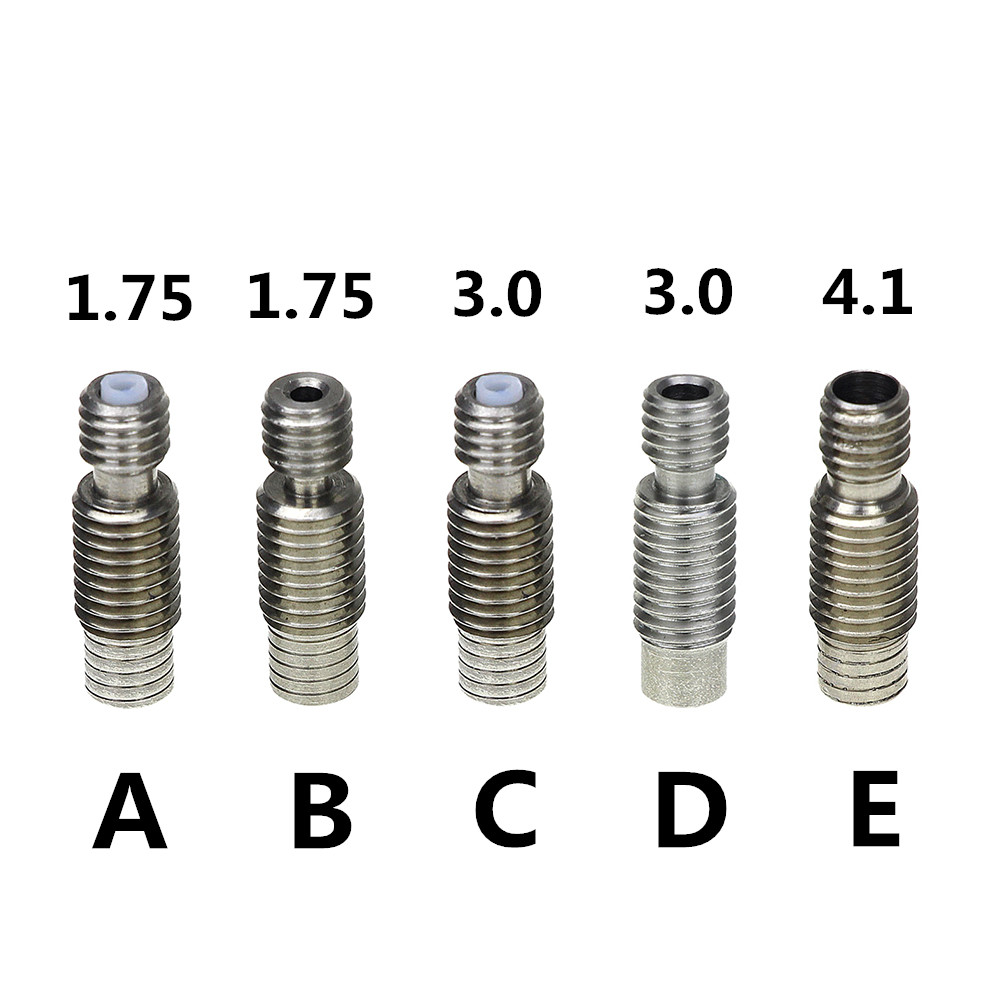 3D Printer Accessories for E3D V6 Hot End of All Metal Stainless Steel Pipes,Feeding Tube 1.75MM/3MM 5pcs 304 stainless steel capillary tube 3mm od 2mm id 250mm length silver for hardware accessories