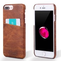 10PCS LOT Premium Genuine Leather Cover Cases With Credit Card ID Holders For IPhone 6 PLUS