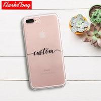 DIY Name Custom Design Print Case Cover For IPhone 6 6s 5 5s SE 7 7Plus