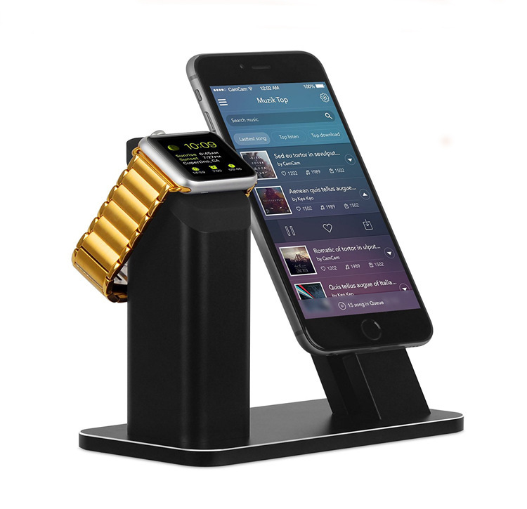 Apple Watch Series 3 2 Stand, Aluminum Charging stand Dock Station-Support Apple Watch NightStand Mode and iPhone 7/7 plus/Stent стоимость