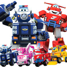 MINI SIZE Super Wings ABS Planes Deformation Airplane Robot JETT Action Figures Toys Birthday Christmas Gifts For Childrens(China)