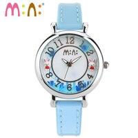 M: N: Handgemaakte 3D PPOLYMER KLEI Quartz Casual Horloge Vrouwen Dames Jurk mini wereld Kinderen meisjes Cartoon horloge Relogio doos