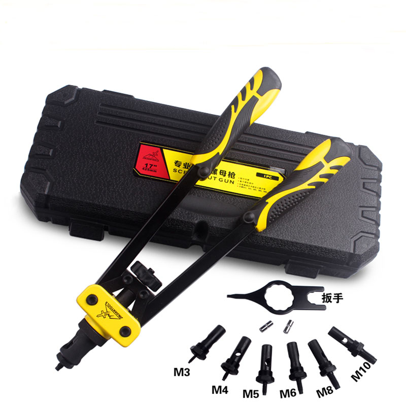 Blind Rivet Screw Nut Gun household tool set Heavy Hand INSER NUT Tool Manual Mandrels M3