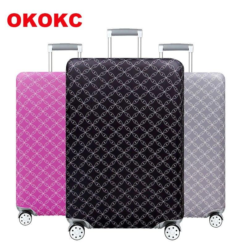 Дорожный чемодан на санскрите, защитный чехол на чемодан, дорожные аксессуары, эластичный пылезащитный чехол для багажа, подходит для чемодана 18 ''-32''