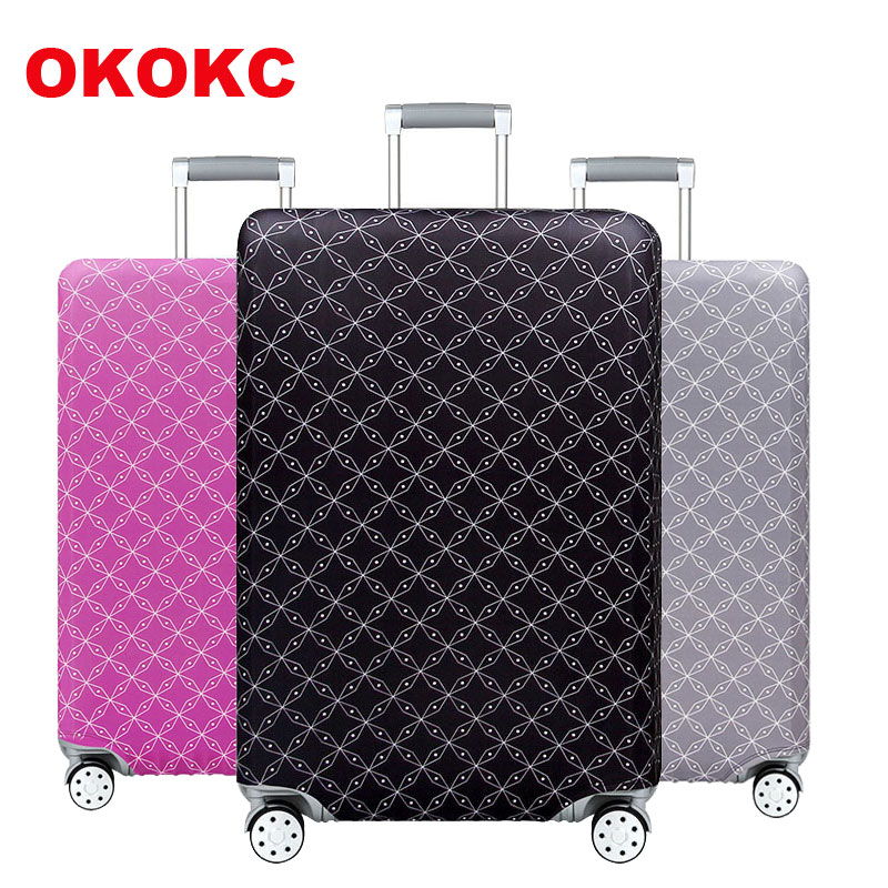 Travel Sanskrit Suitcase Protective Cover Luggage Case Travel Accessories Elastic Luggage Dust Cover Apply To 18''-32'' Suitcase