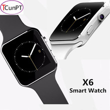 New Fashion X6 Curved Screen Bluetooth Smart Watch Clock With Camera Support SIM Card and SD Card Wristwatch For Android Phone