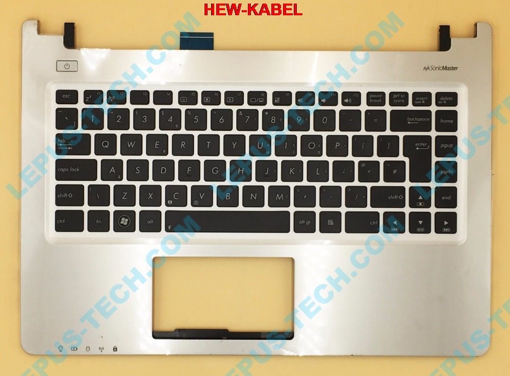 UK US English <font><b>Keyboard</b></font> for <font><b>ASUS</b></font> K46 <font><b>K46CM</b></font> S46 S46C 90R-NTJ1K1100U <font><b>keyboard</b></font> with palmrest top case image
