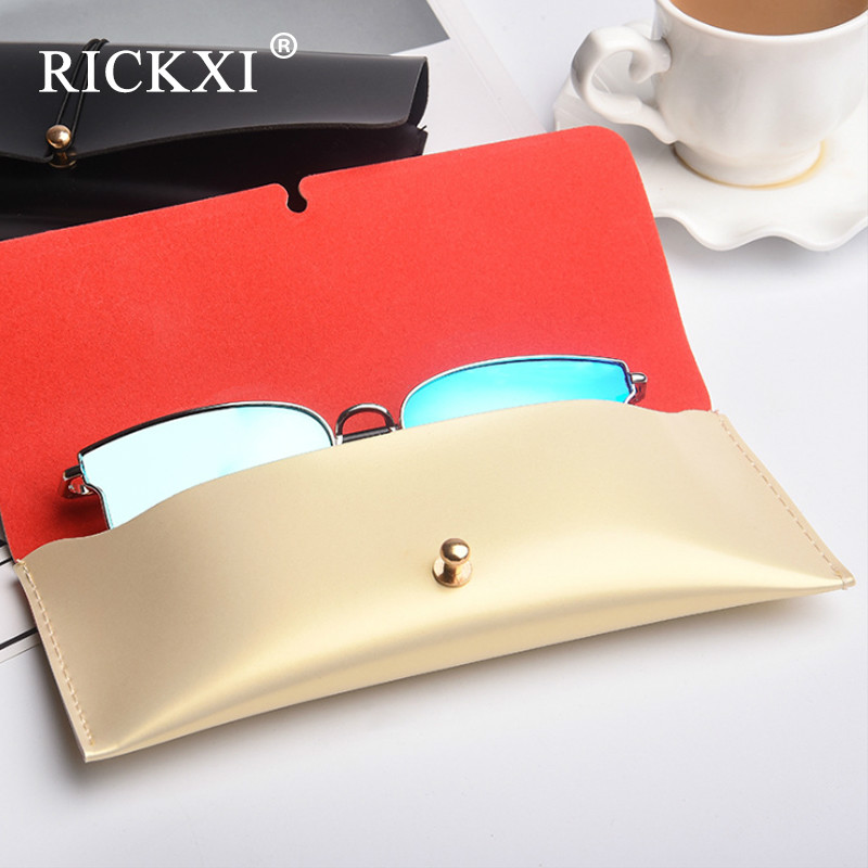 Dressuup Top-grade Exquisite Sunglasses Boxes High Quality Luxury Leather Glasses Case Gold/black Estuche Gafas Eyewear Accessories Apparel Accessories