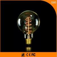 50Pcs Vintage Design Edison Filament E27 B22 LED Bulb ,G95 25W Energy Saving Decoration Lamp Replace Incandescent Light AC220V