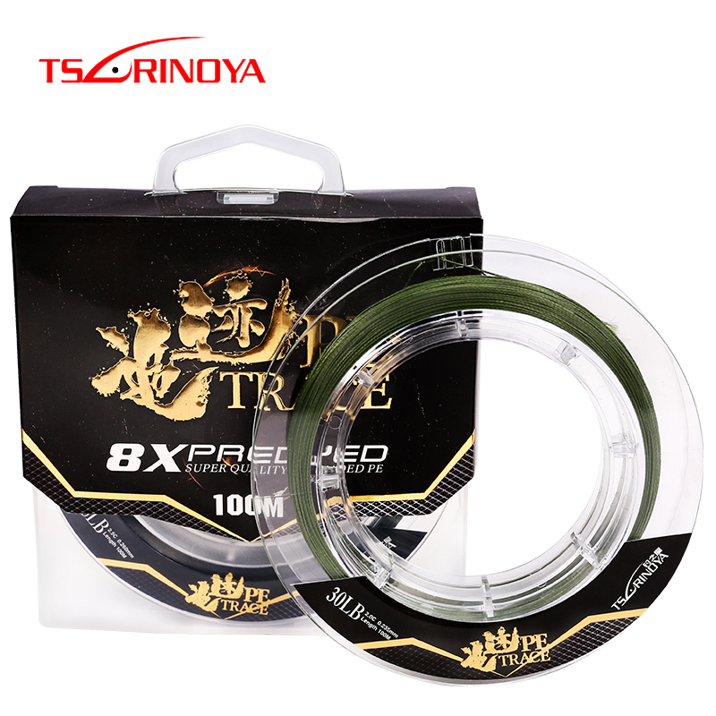 TSURINOYA 100m 1.0# 1.5# 2.0# 8 Strands PE Braided Fishing Line Floating Strong Wire 20LB 35LB Drag Rope Cord Carp For Fishing|Fishing Lines| |  - title=