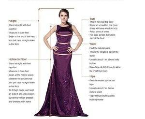 Image 5 - Bianco Che Borda Paillettes Abiti Da Sera Lunghi 2020 Moda Con Scollo A V Vestito Da Promenade Per Dubai Arabo Robe De Soiree Piume Abiti