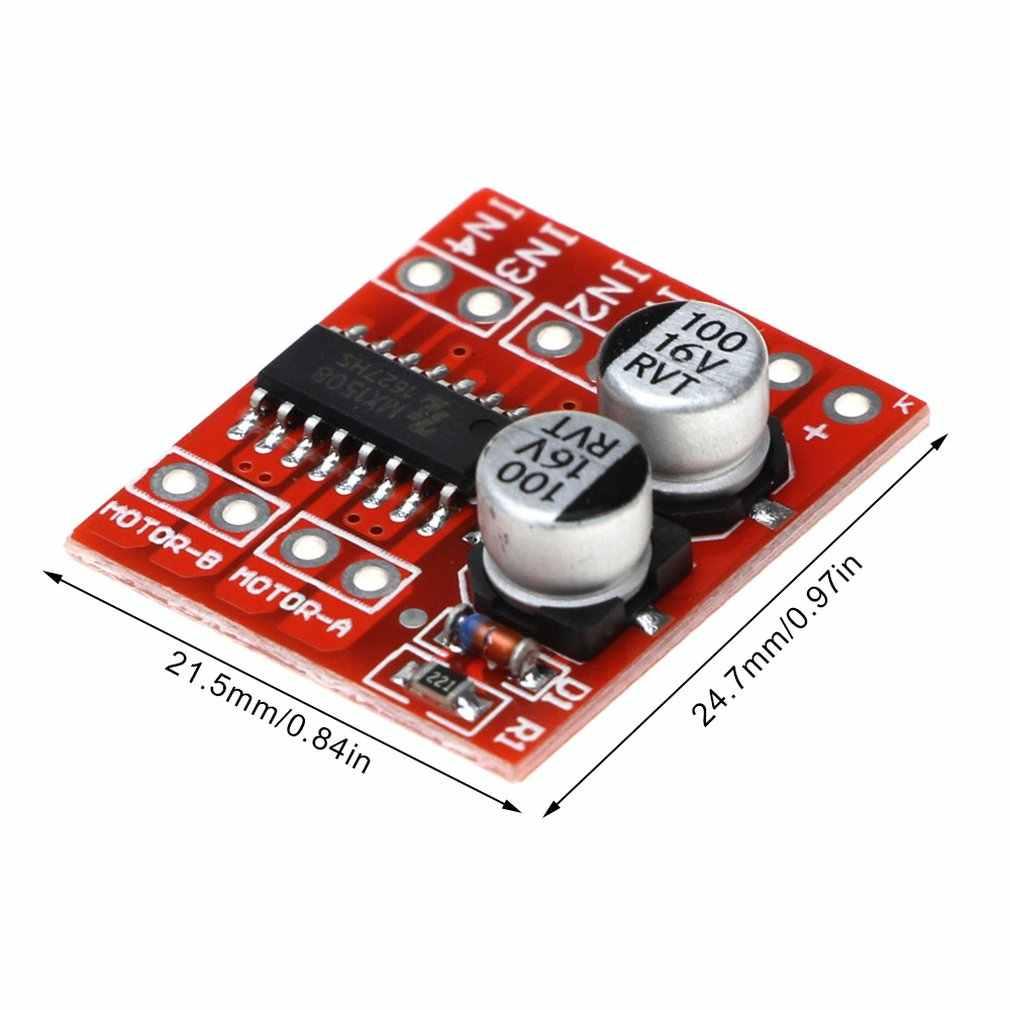 2-canal de Controle de Velocidade Pwm Dc Módulo de Acionamento Do Motor Duplo-Ponte H Motor de Passo Mini Super L298N Positivo reversão
