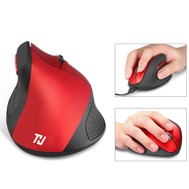 THU 2.4G Wireless Mouse Rechargeable Ergonomic Vertical Gaming Mouse 6 DPI level up to 4800DPI for PC Laptop MacBook