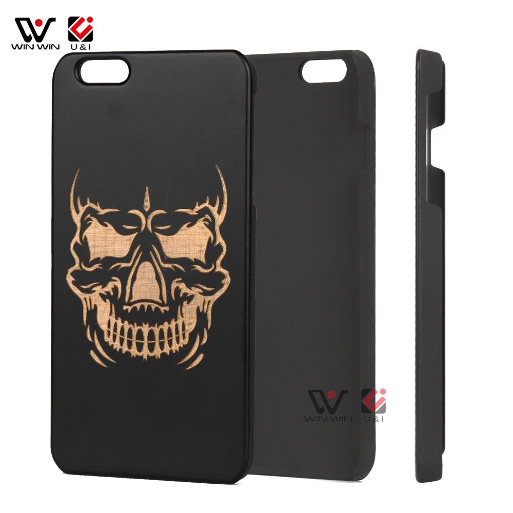 Devil Icon U&I Wood Case for Apple iPhone 6 6s 6plus