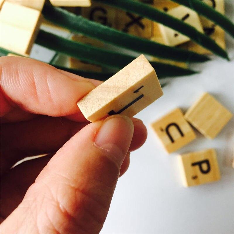 100pcs Wooden English Letters Alphabet Scrabbles Number Words Wood Crafts Wedding DIY Decoration