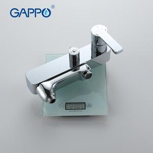 Image 5 - GAPPO waterfall shower bath faucets set bathtub mixer faucet bath rain shower tap bathroom shower head stainless shower bar