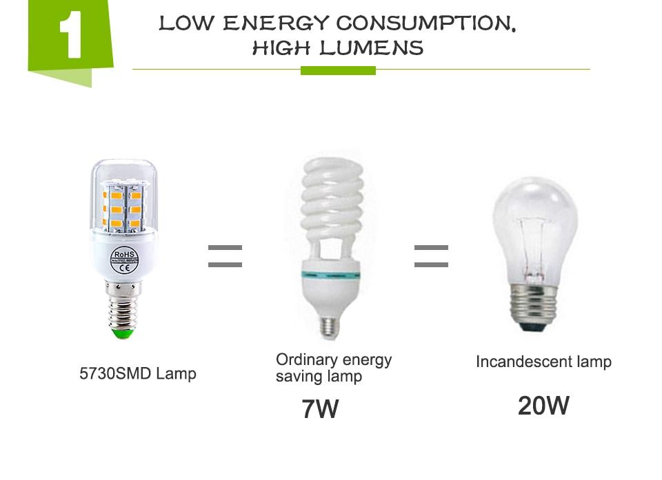 E27 LED Bulb E14 LED Lamp 220V 24 36 48 56 69 72LEDs Bombillas Ampoule LED E27 E14 Corn Light Bulbs For Home Chandelier Lighting (7)