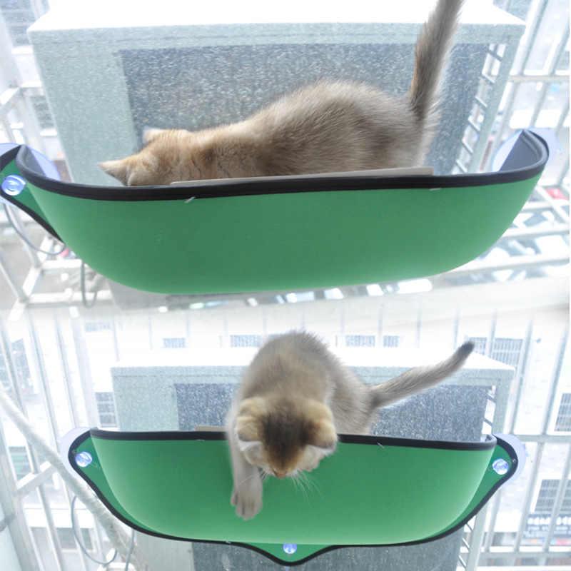고양이 해먹 침대 창 포드 라운지 흡입 컵 애완 동물 고양이 휴식을위한 따뜻한 침대 부드럽고 편안한 흰 족제비 케이지