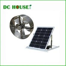 Solar exhaust fan USA stock 25w solar powered attic vent gable roof ventilator fan ventilation 30w folding mono panel free ship