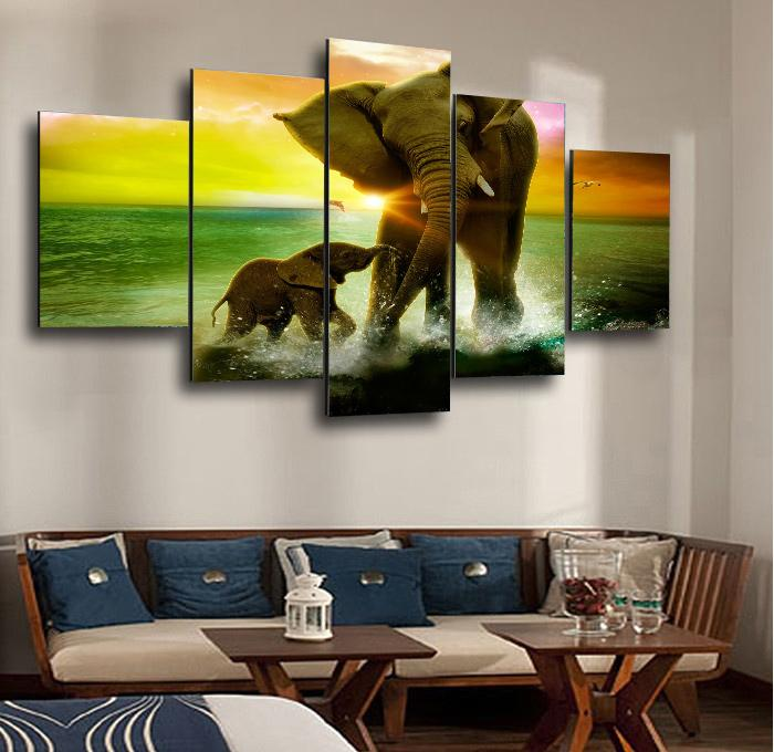Wall Art Canvas Picture Print Three Beautiful Happy Cows 3.2