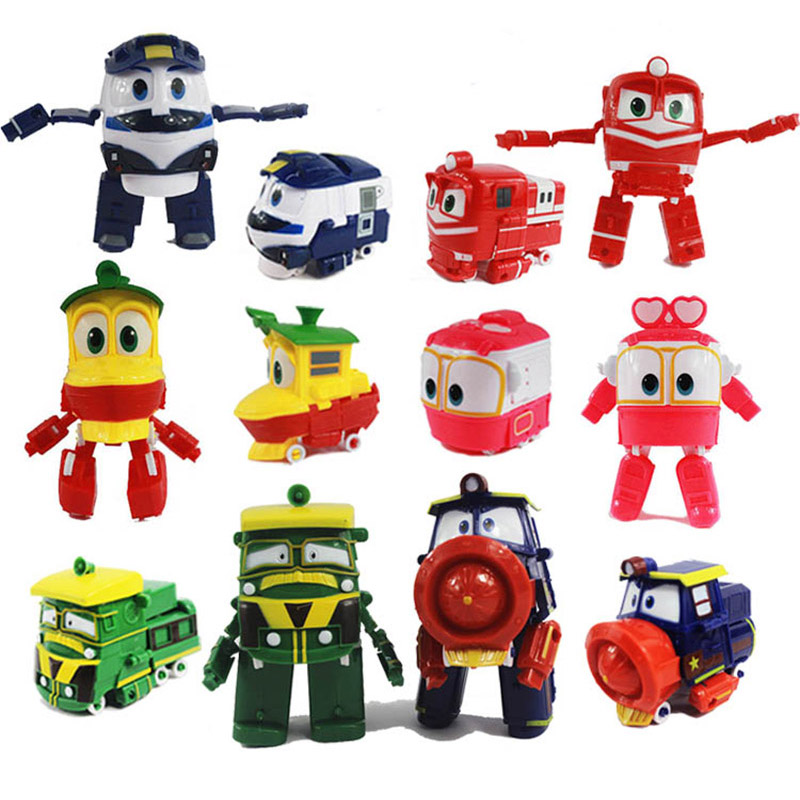 Toys & Hobbies Robot Trains Transformation Kids Juguetes 13cm Pvc Rt Model Kay Alf Duck Figma Robot Car Family Anime Figure Toys For Boys Finely Processed