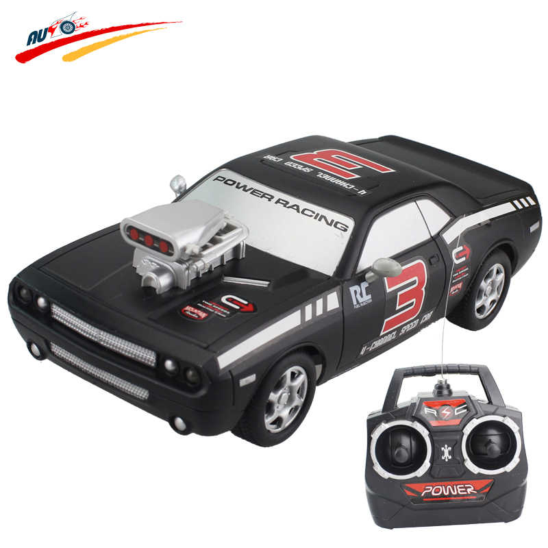 RC Auto Voor Dodge Challenger 4CH High Speed Racing Auto Afstandsbediening Voertuig Model Off-Road Speelgoed Elektronische Model speelgoed Hobby