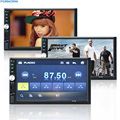 """7 """"TFT 1080 P HD Tela de Toque MP5 Player Do Carro Do Bluetooth 12 V Vídeo e Áudio do carro FM USB SD AUX EM Apoio Retrovisor câmera"""