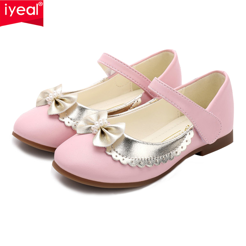 IYEAL New Summer Autumn Children Shoes Girls Sandals sequins Bow Princess  leather shoes Girls Casual Shoes a177866931cd
