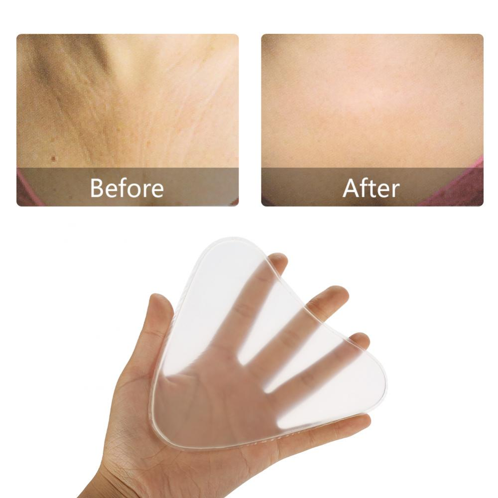 Body Paint Silicone Bra Chest Neck Pads Anti-wrinkle Transparent Breast Care Tighten Lift Chest Triangle Pad Skin Care Tools