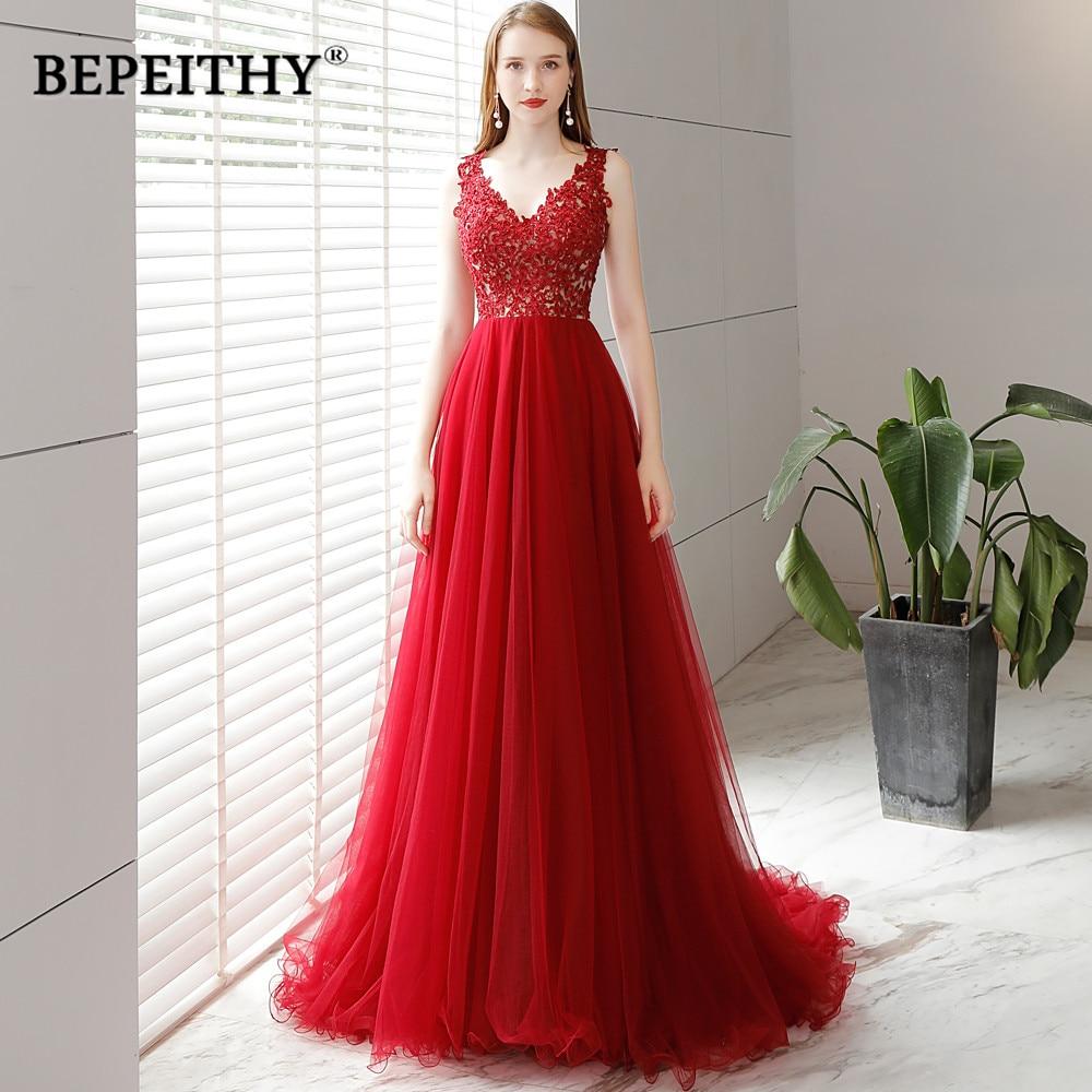 New Fashion A Line Long Evening Dress Party Elegant 2019 Vestidos De Festa Vintage Prom Dresses Lace Top Vestidos Longo