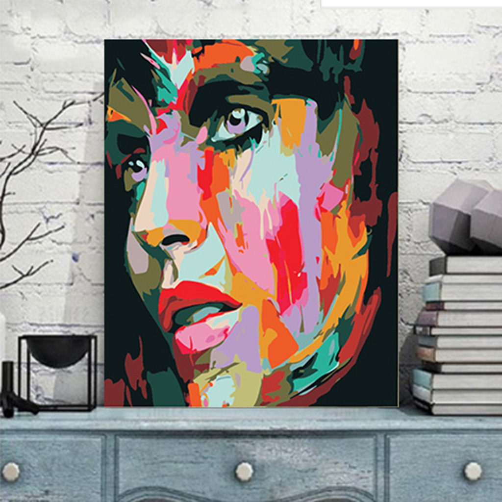 DIY Beauty Woman Paint By Number Kit Oil Painting On Canvas Art Home Decoration