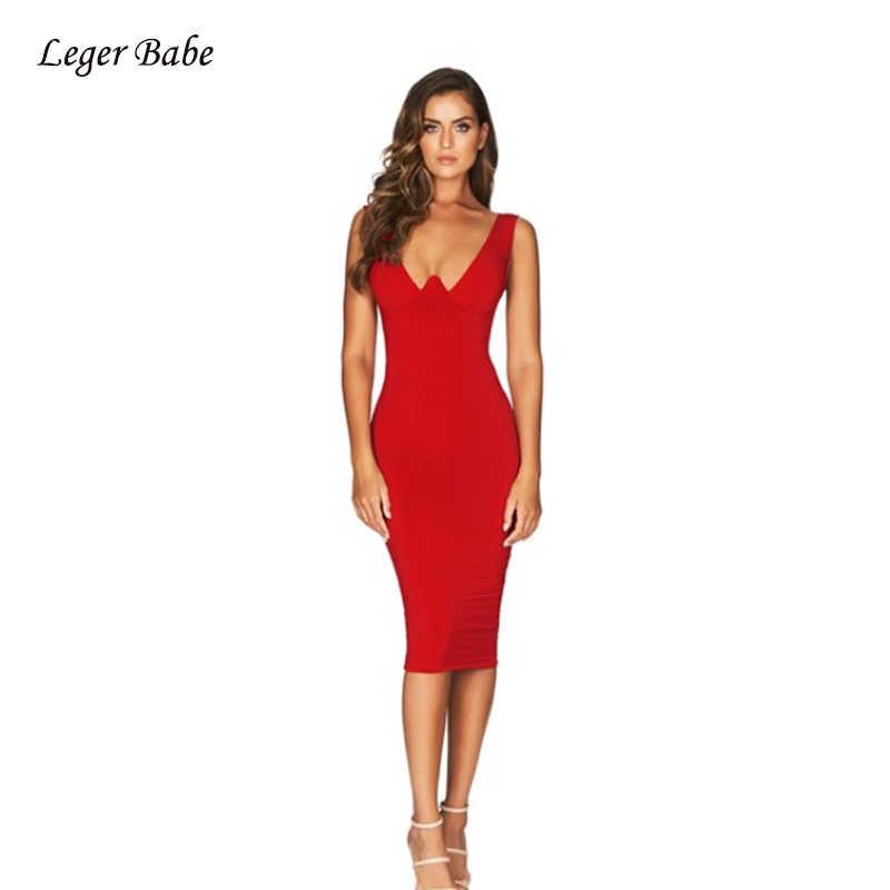 2019 без рукавов с v-образным вырезом сексуальное летнее женское Бандажное платье знаменитость вечерние высококачественные тонкие Униформа миди платья оптом Vestidos
