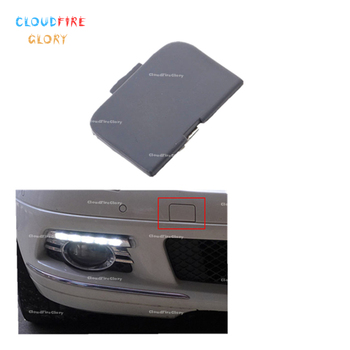 CloudFireGlory 51117044125 Front Bumper Tow Eye Hook Cover Cap Unpainted For BMW E46 318i 2004 320i 2005 325i 2001 330i 325Xi image