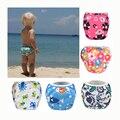 Desgaste A Prueba de Fugas de Pañales de natación Ajustable Reutilizable para bebé muchacho del niño de 3 años 1 2 4 5 6 7 8 9 10 12 11 meses del bebé traje de baño