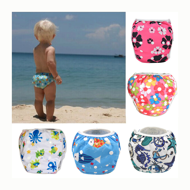 a2ed4c9dbc Swim Diaper wear Leakproof Reusable Adjustable for infant boy girl toddler  2 4 5 6 7 8 9 10 12 11 month baby swimwear pool pant