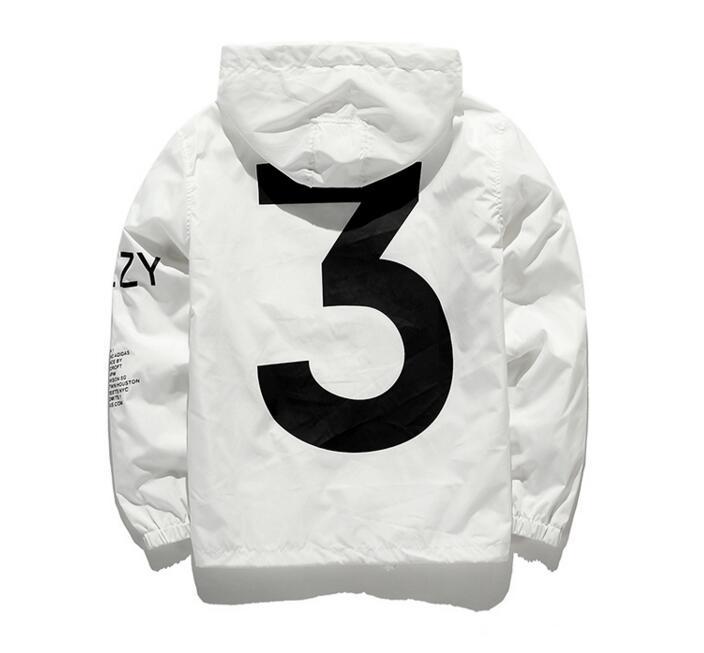Dropshipping New 2019 Hot Selling Kanye West Y3 Season 3 Windbreaker Men Women Hip Hop Jacket Fashion Outwear