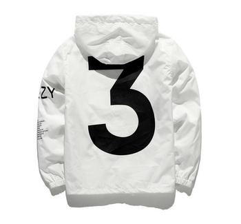 Dropshipping New 2020 Hot Selling Kanye West Y3 Season 3 Windbreaker Men Women Hip Hop Jacket Fashion Outwear