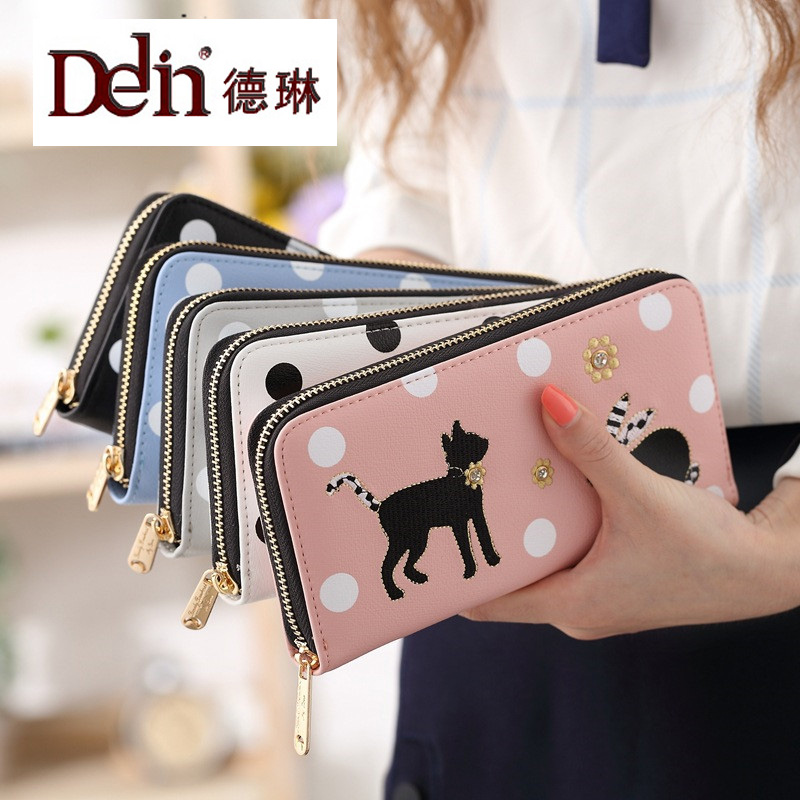 DELIN  long wallet  fashion bills clip cute animals cat rabbit zipper wallet original lcd touch screen digitizer for samsung galaxy s6 g9200 sm g920 g920f g920i g920a lcd display assembly glass film